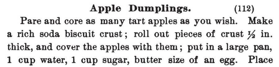 Kristin Holt | Victorian Apple Dumplings. Part 1 of 2: Recipe published in Three Hundred Tested Recipes, 2nd Edition, 1895.