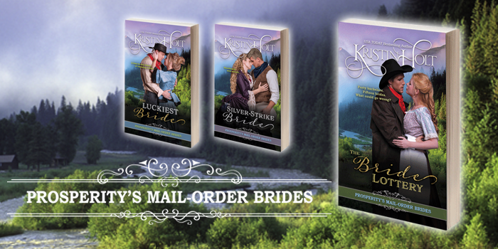 Link to Series Description: Prosperity's Mail-Order Brides by USA Today Bestselling Author Kristin Holt. Book 1 in this series: The Bride lottery. Book 2 in this series: The Silver-Strike Bride.