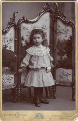 Kristin Holt | Meet the Cast: Unmistakably Yours. Cabinet Card used as inspiration for character Miss Virginia Abbott, age four.