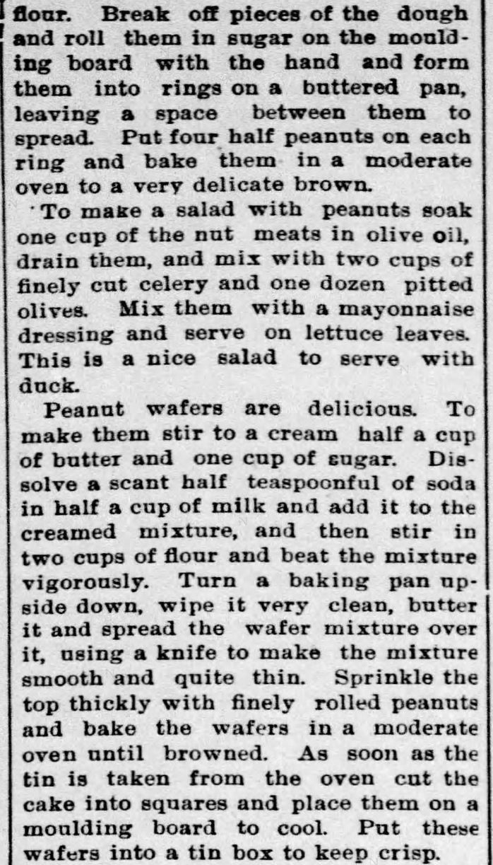 Kristin Holt | Peanut Butter in Victorian America. Newspaper Article: All about Peanuts, Part 6 of 8, published in The Ozark County News of Gainesville, Missouri on February 11, 1897.