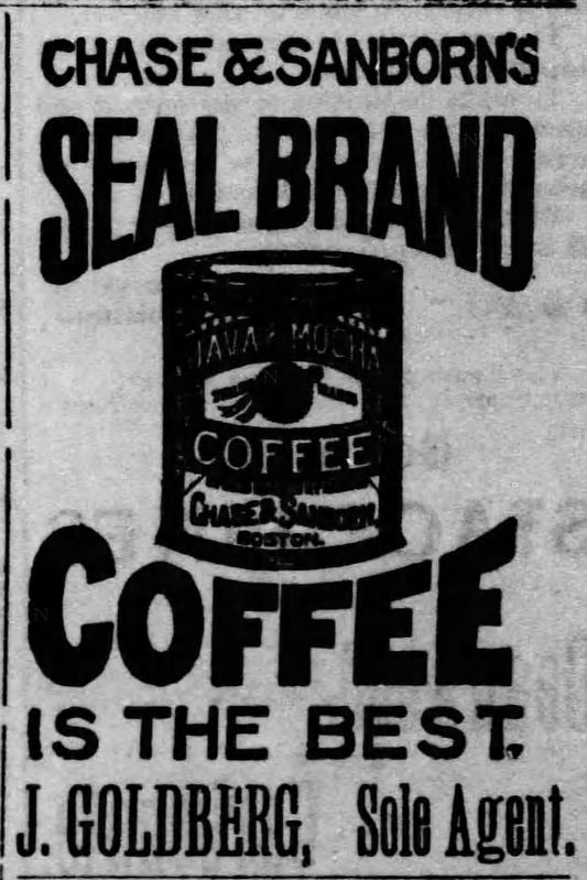 Kristin Holt | Victorian Coffee. Seal Brand Coffee, advertised for sale in The Black Hills Daily Times of Deadwood, South Dakota on May 3, 1890.