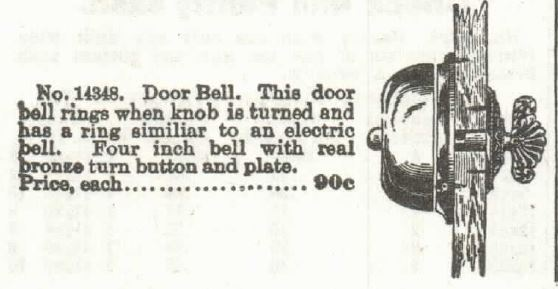 Kristin Holt | 19th Century Turnkey Doorbells for sale in the Sears 1897 Catalog. Part 2.