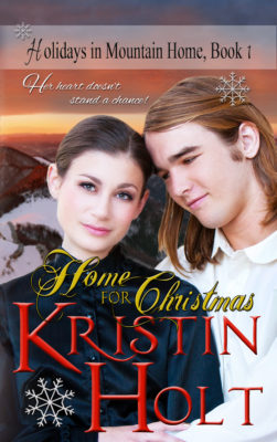 Former cover Art: Home for Christmas by USA Today Bestselling Author Kristin Holt