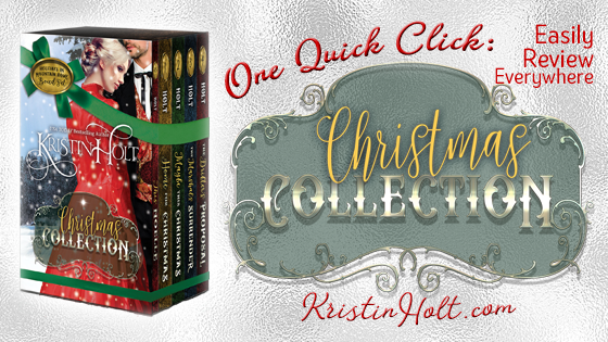 Kristin Holt | One Quick Click: Christmas Collection. One page with all online review links in one place to make the process easier for readers.
