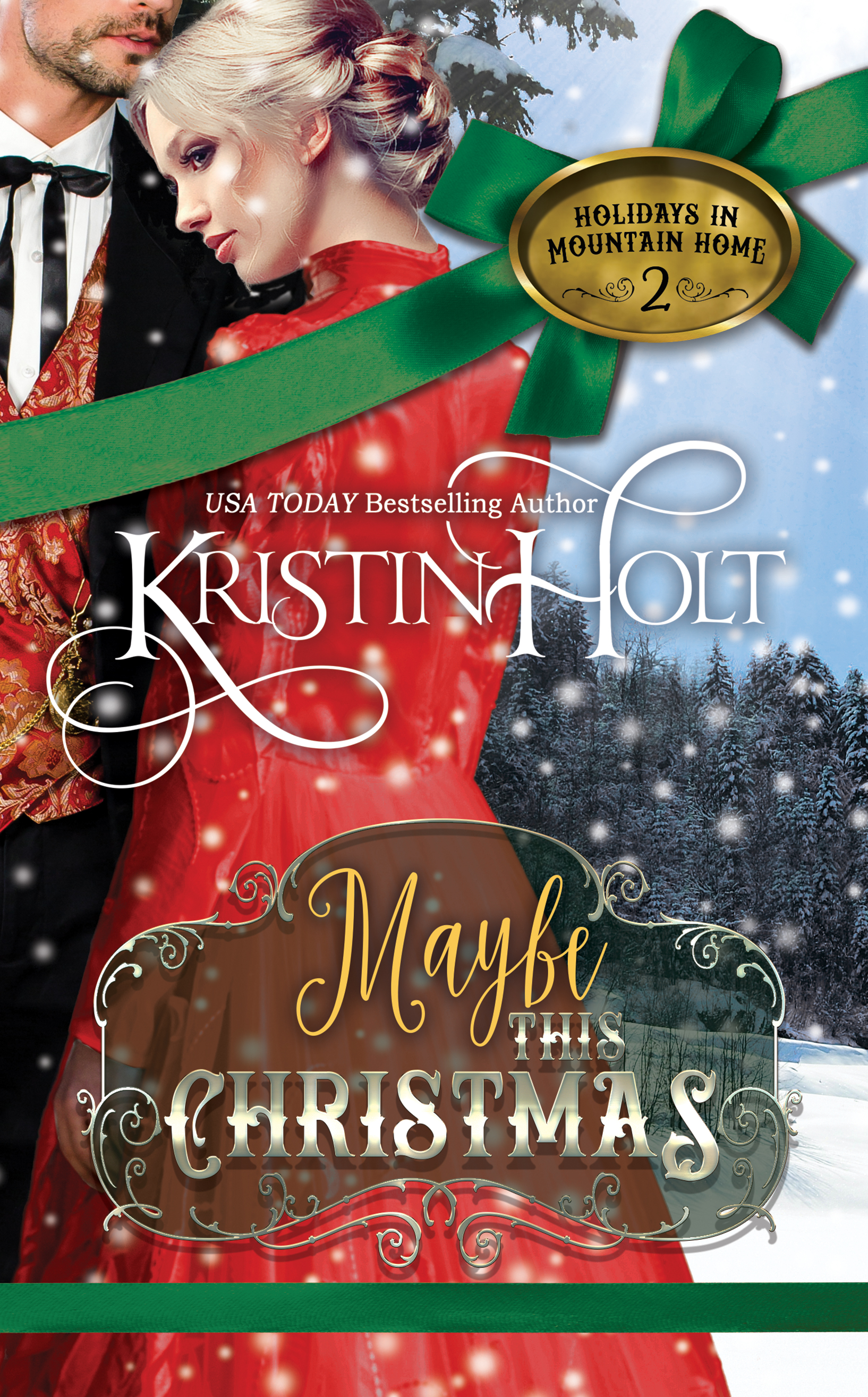 Kristin Holt | eBook Cover artwork: Maybe This Christmas