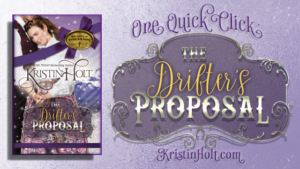 Kristin Holt | One Quick Click: The Drifter's Proposal. All online review links so readers might easily review the book anywhere they choose.