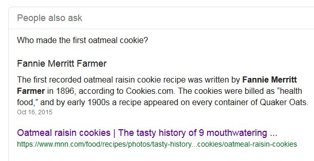 "Kristin Holt | Victorian Oatmeal Cookies. Google search: ""Who made the first oatmeal cookie?"""