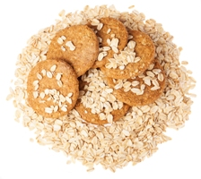 Kristin Holt | Oatmeal Biscuits (cookies) on Oats, Image copyright credit: freepik, image used with paid premium subscription.