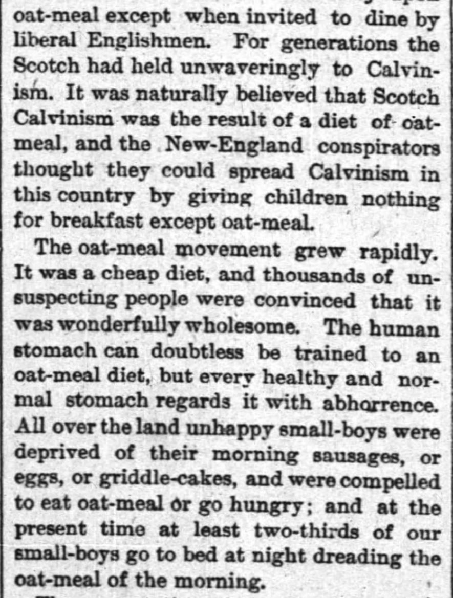 Kristin Holt | Oat-Meal: Protect the Children, Part 2. The New York Times, June 12, 1884.