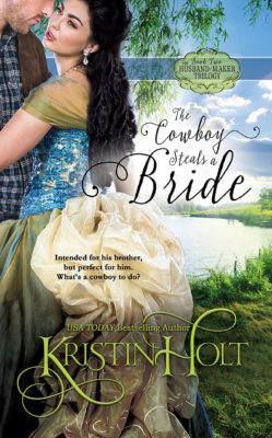 New Cover Art: The Cowboy Steals a Bride by USA Today Bestselling Author Kristin Holt