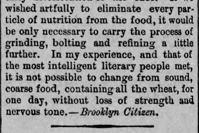 The Oatmeal Superstition (including indigestible), Part 1 of 2, <em>Springfield Reporter</em> of Springfield, Vermont on February 27, <strong>1891</strong>.