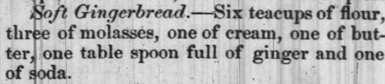 Kristin Holt | Soft Victorian Gingerbread Recipe. Published in The Message of Greensboro, North Carolina. November 29, 1851.