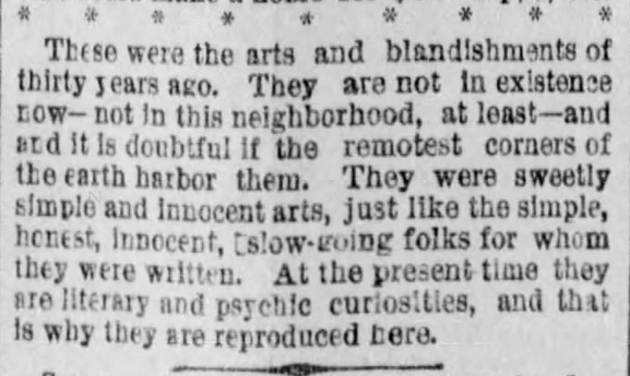 Kristin Holt | The Art of Courtship, Part 14: Conclusion, from The Des Moines Register of Des Moines, IA on February 20, 1887.
