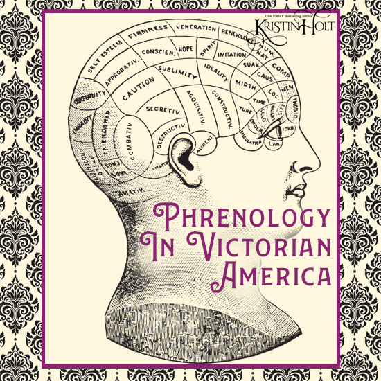 Kristin Holt | Blondes are Favorites. Image: vintage etching illustration of a phrenology outline upon a human head. Phrenology in Victorian America.