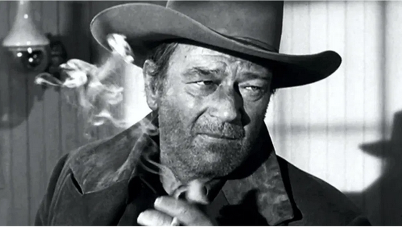 Kristin Holt | Victorian Tobacco: Cures or Kills? Photograph of John Wayne, smoking. Courtesy of My Favorite Westerns.