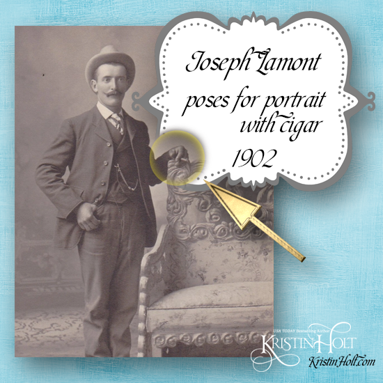 Kristin Holt | Victorian Tobacco: Cures or Kills? Vintage photo of Joseph Lamont (1902); smoking in portrait