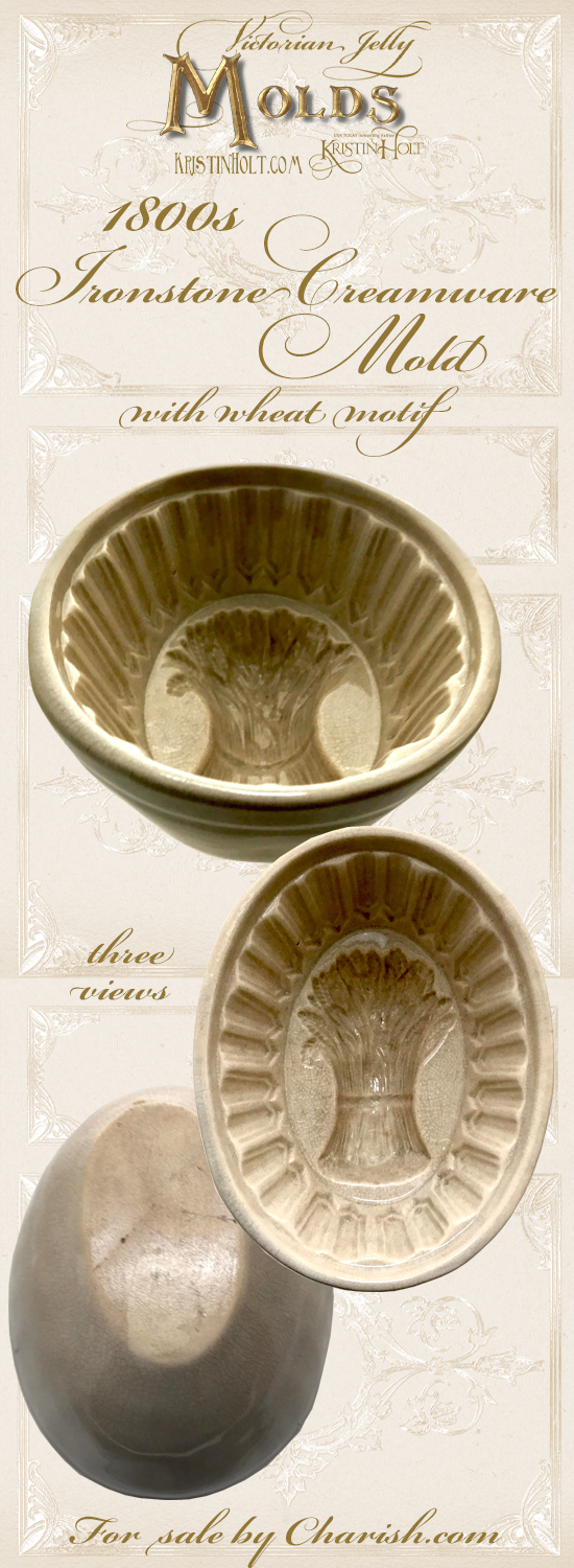 Kristin Holt | Victorian Jelly: Molds. Ironstone Creamware Mold for sale by Charish.