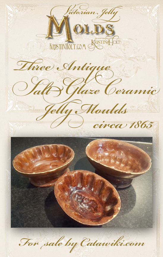 Kristin Holt | Victorian Jelly: Molds. Salt Ceramic Antique (three!) Jelly Moulds, circa 1865, for sale by Catawiki.com.
