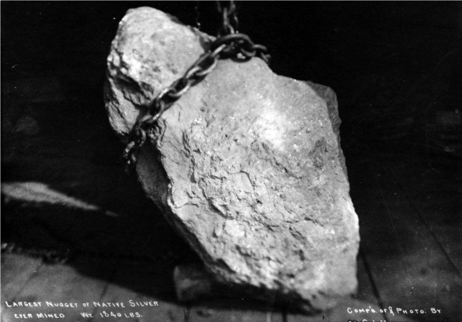 Kristin Holt | Victorian America's Gold and Silver Cakes. A large nugget of native silver, mined at Aspen, Colorado, 1894. Image: Public Domain, courtesy of Wikipedia.