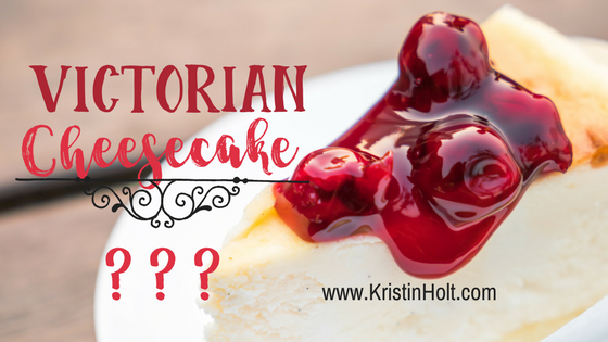 Kristin Holt | Victorian Cheesecake? Related to Pound Cake in Victorian America.